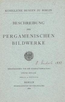 Beschreibung der Pergamenischen Bildwerke