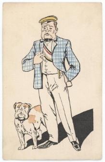 Kartka korporacyjna – student z psem