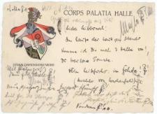 Kartka korporacyjna – Corps Palatia Halle