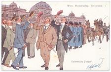 Korporanci przed Uniwersytetem Wiedeńskim