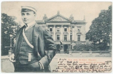 Harry Walden jako student i gmach teatru w Berlinie