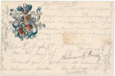 Kartka korporacyjna – kartusz herbowy