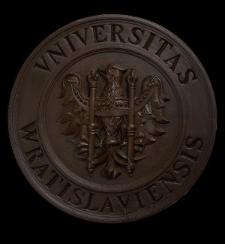 Medalion Universitas Wratislaviensis - element uniwersyteckiej tablicy ogłoszeń Typ: model do medalionu meblowego