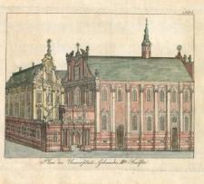 Kolegium i kościół Uniwersytecki we Wrocławiu – widok od południa (II połowa)