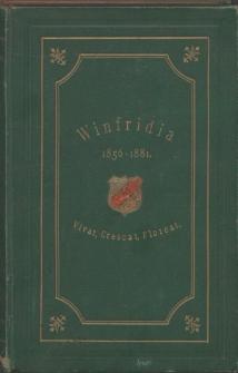 Historia katolickiej korporacji studenckiej Winfridia we Wrocławiu w latach 1856-1881