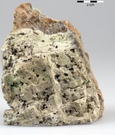 serpentynit z żyłką opalu