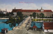Most Uniwersytecki i Uniwersytet Wrocławski – widok od północy