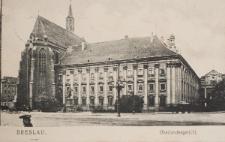 Wyższy Sąd Krajowy we Wrocławiu (ob. Wydział Filologiczny UWr) – widok od wschodu