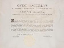 Dyplom Jana Mikulicza-Radeckiego – Królewska Akademia Medyczna w Rzymie