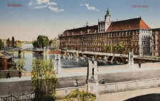 Most Pomorski i Uniwersytet Wrocławski – widok od północnego-zachodu