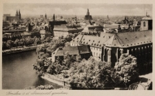 Wyspa Piaskowa we Wrocławiu – widok z lotu ptaka