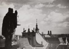 Widok w kierunku zachodnim z Wieży Matematycznej Uniwersytetu Wrocławskiego