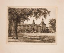 Uniwersytet w Bonn – widok na elewację ogrodową