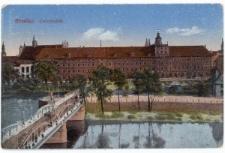 Uniwersytet Wrocławski – widok od strony Mostu Uniwersyteckiego