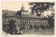 Uniwersytet Wrocławski – widok od strony Kępy Mieszczańskiej