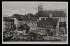 Wyspa Piaskowa we Wrocławiu – widok od południa z wieży Hali Targowej