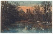 Ostrów Tumski we Wrocławiu – Widok z Ogrodu Botanicznego