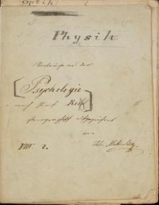 """Zeszyt Jana Mikulicza-Radeckiego """"Physik"""""""