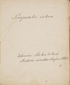 """Zeszyt Jana Mikulicza-Radeckiego """"Praeparatio latina"""""""