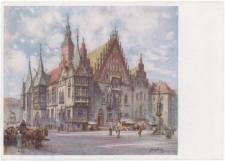 Stary Ratusz we Wrocławiu - widok od południowego-wschodu