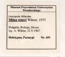 Milax totevi Wiktor, 1975
