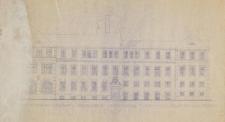 Biblioteka Uniwersytecka UWr przy ul. K. Szajnochy 10 – rzut pionowy elewacji południowej