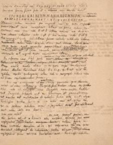 Otto Rossbach - odręczne notatki