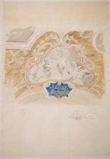 Projekt rysunkowy do rekonstrukcji plafonu Oratorium Marianum w gmachu głównym UWr (rysunek 9)