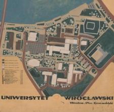 Kampus Grunwaldzki Uniwersytetu Wrocławskiego – plan sytuacyjny