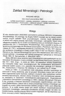 Zakład Mineralogii i Petrologii