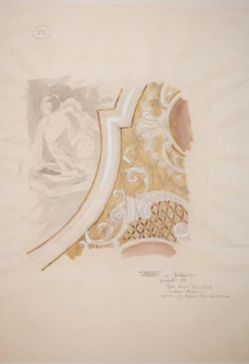 Projekt rysunkowy do rekonstrukcji plafonu Oratorium Marianum w gmachu głównym UWr (rysunek 11)